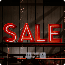 Red and White Sale sign